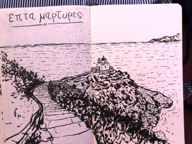 paulo-patricio-greece-sketchbook-Επτά-Μάρτυρες